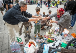 credit Hungarian Baptist Aid; Samaritan's Purse works through partner organization Hungarian Baptist Aid to distribute relief items to refugees fleeing the Middle East